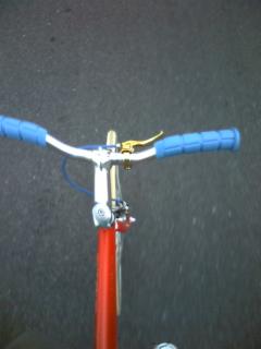 自転車通勤中