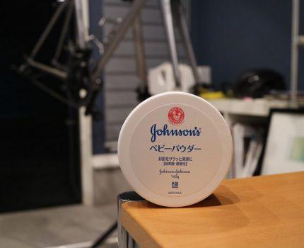 Johnson's ベビーパウダーでチューブの貼り付き対策